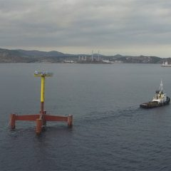FloatMast® is an unmanned mini-Tension Leg Platform equipped with a 40m met mast and a LiDAR.